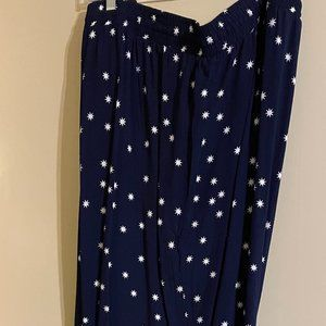 Navy Trousers, White Stars, Anna Scholz 22-24 NWT